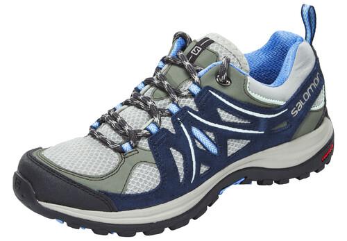 ... Wanderschuhe; Salomon Ellipse 2 Aero Hiking Shoes Women Titanium/Deep  Blue/Petunia Blue. Salomon ...